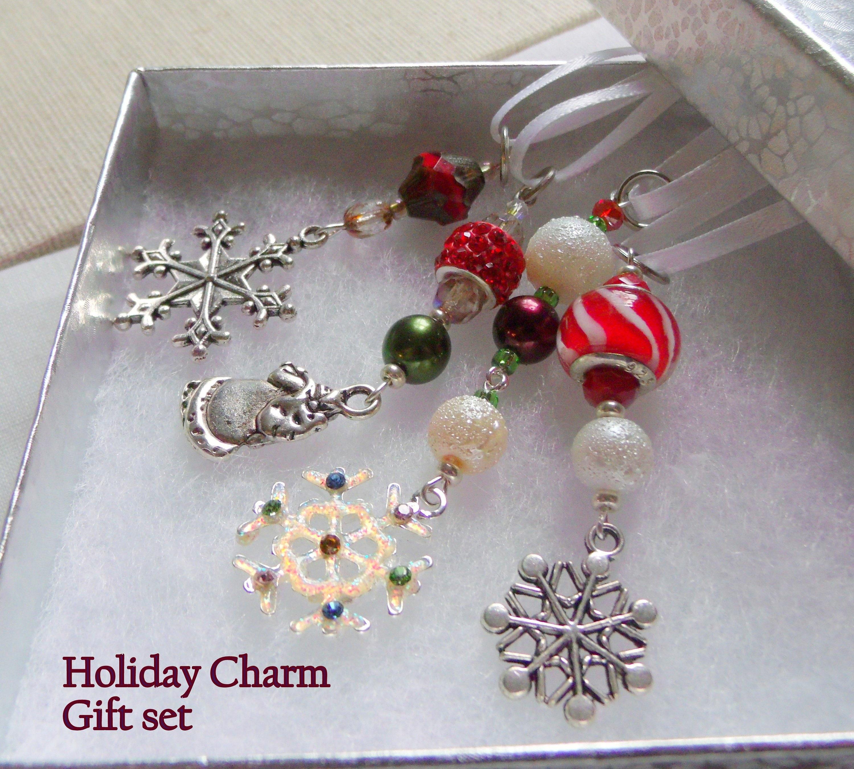 beaded christmas ornaments handmade snowflake santa ornaments glass christmas tree hangers candy cane tree decorations - Beaded Christmas Tree Decorations To Make