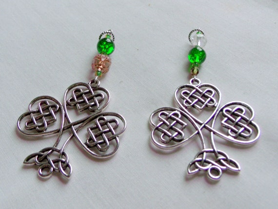 Irish charm ornaments - St Patricks day gifts - Celtic good luck charms - green filigree shamrock  - sun - sweetheart -  Boston Irish
