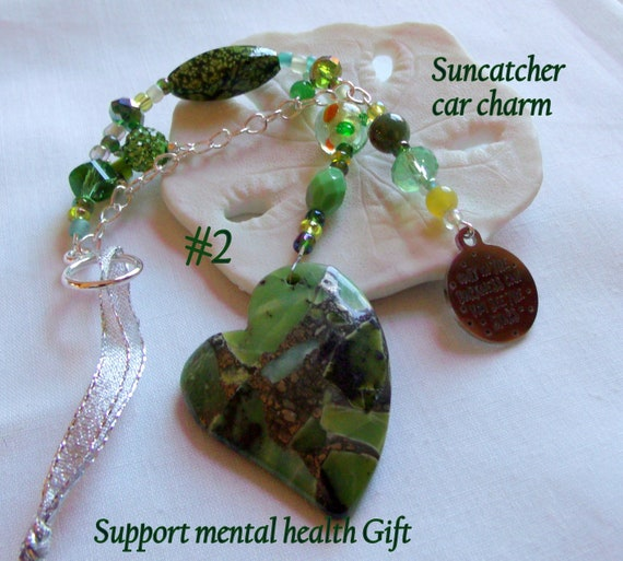 Peace of mind gifts - heart sun catchers - Group therapy -  against depression - mental health - out of darkness - work from home - pendant
