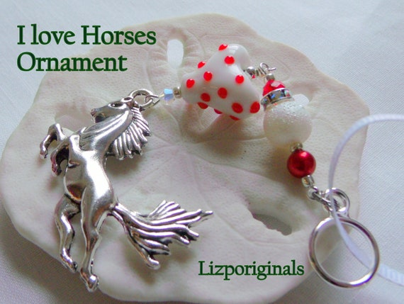 Horse Christmas ornament - country living - Equestrian club gift -  girls riding holiday gift - Horse lover memento - wild stallion- mustang