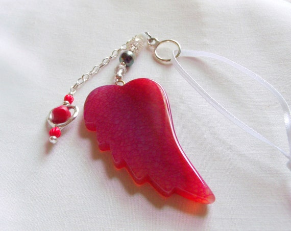 Doctor thank you gift - angel blessing - appreciation  - emergency room - red car charm - crisis -  doctors without borders - Hospital wing