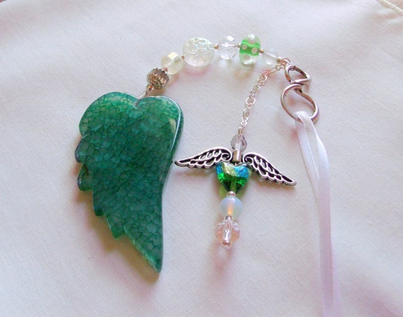 Custom mourning gift - always in my heart - remembrance - shrine memento - cremation box -  angel car charm - wing ornament - loss of mom