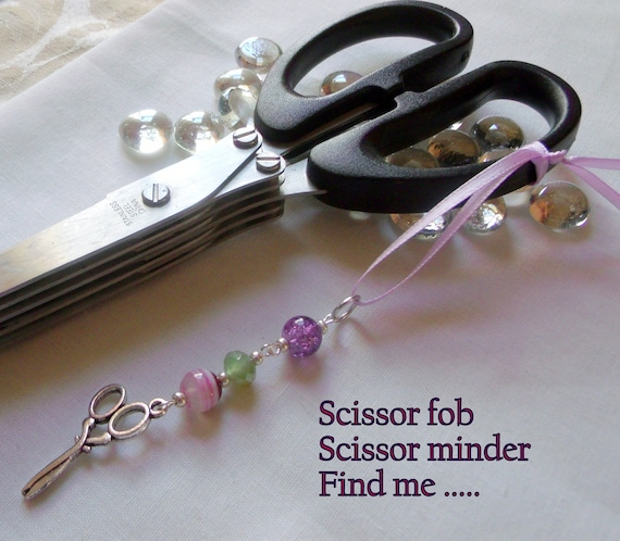 Pastel sewing charms - scissor fobs -  custom favors  -scissor minder -  Group gifts - sewing circle / quilters  - Sewing zipper pulls