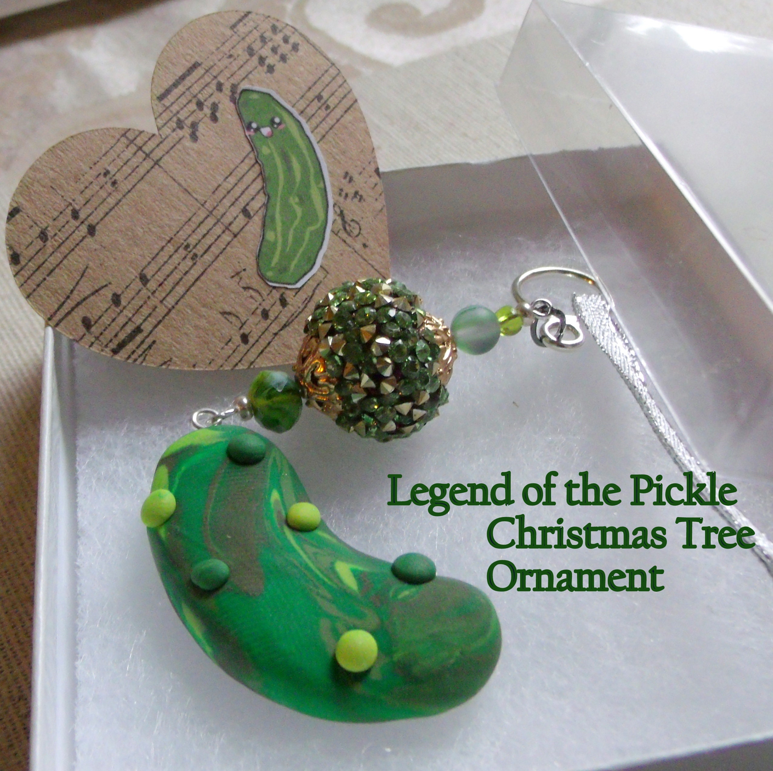 Christmas Pickle Tradition.Fancy Christmas Pickle Legend Of The Pickle Ornament