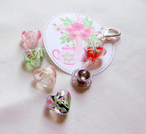 Tea party favors - garden party for women - tea time - English high tea - bridal shower gifts - fundraiser - tea cup charms - Downtown Abbey
