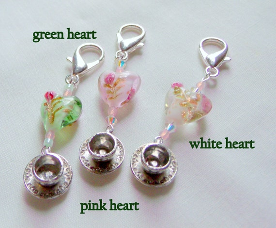 Tea cup charm party favors - garden party gifts - Tea party for women - teatime - English garden favors - bridal shower  Guest gifts - heart