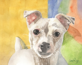 Pet Portrait/Custom Water Color Dog