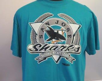 San Jose Sharks Shirt (VTG) - By Trench USA - Men's Extra Large hCyfQzQZC