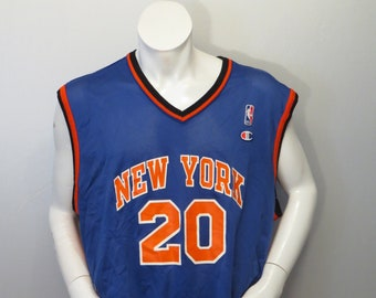 a232e4543 Vintage New York Knicks Jersey by Champion - Allan Houston   20 - Size 52 ( XXL)