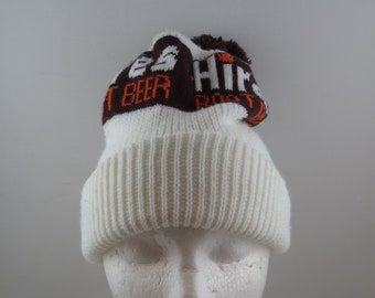 Vintage Hires Rootbeer Beanie   Toque - Wool Blend Knit - Adult One Size 778385a2c6b8