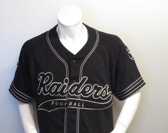 c7ad1ea9190 ... best price los angeles raiders baseball jersey by starter script front  mens large 66963 1ccda