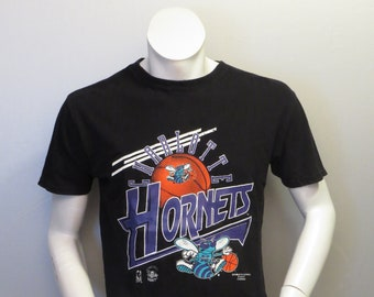 b6ac2989fb5 Vintage Charlotte Hornets Shirt - Zooming Graphics by Double R - Men's Small