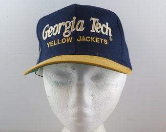 3cfa5181ada Georgia Tech Yellow Jackets Hat (VTG) - Sports Specialties Script - Snapback