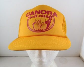 0616818715c Vintage Screened Trucker Hat - Canora Gold Club - Adult Snapback