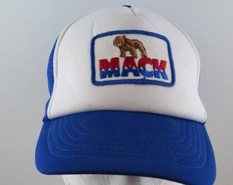 Mack Truck Hat (VTG) - Bicolour Trucker Crested - Adult One Size Fits All