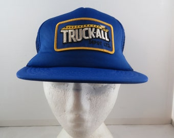 Vintage Patched Trucker Hat - Truck All Depot - Adult Snapback 8da64240f1de