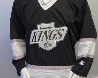 Vintage LA Kings Jersey - Away Black by Starter - Men s Medium 2c6a3fa4c