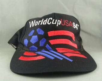 1994 Wrold Cup of Soccer Hat - Large Oversized Graphic - By Adidas - Snapback