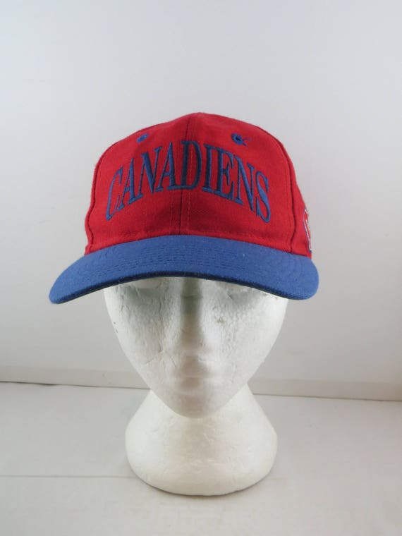 Montreal Canadiens Hat Vtg Wool Arch Script By The Game Etsy