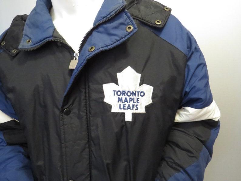 adcc3627772 Vintage Toronto Maple Leafs Puffy Parka   Jacket by Chalkline - Men s Medium