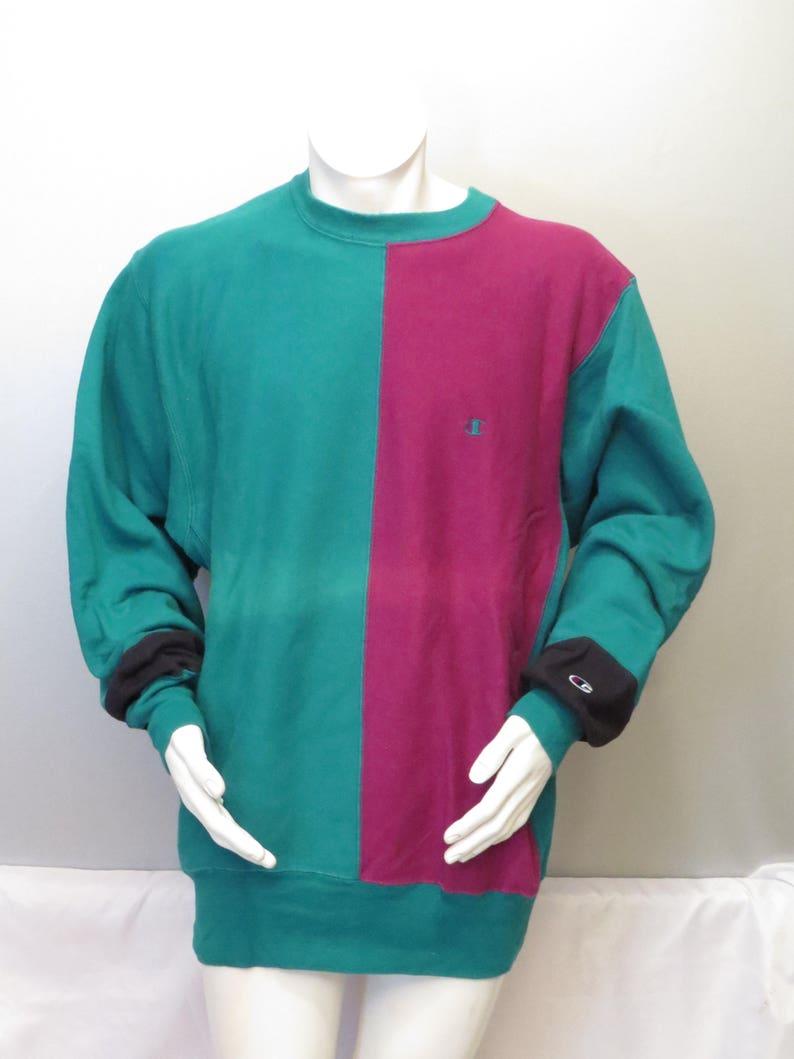 on sale 1925a cf50d Vintage Champion Sweater - Charlotte Hornets Color Blocked - Men's 2 XL