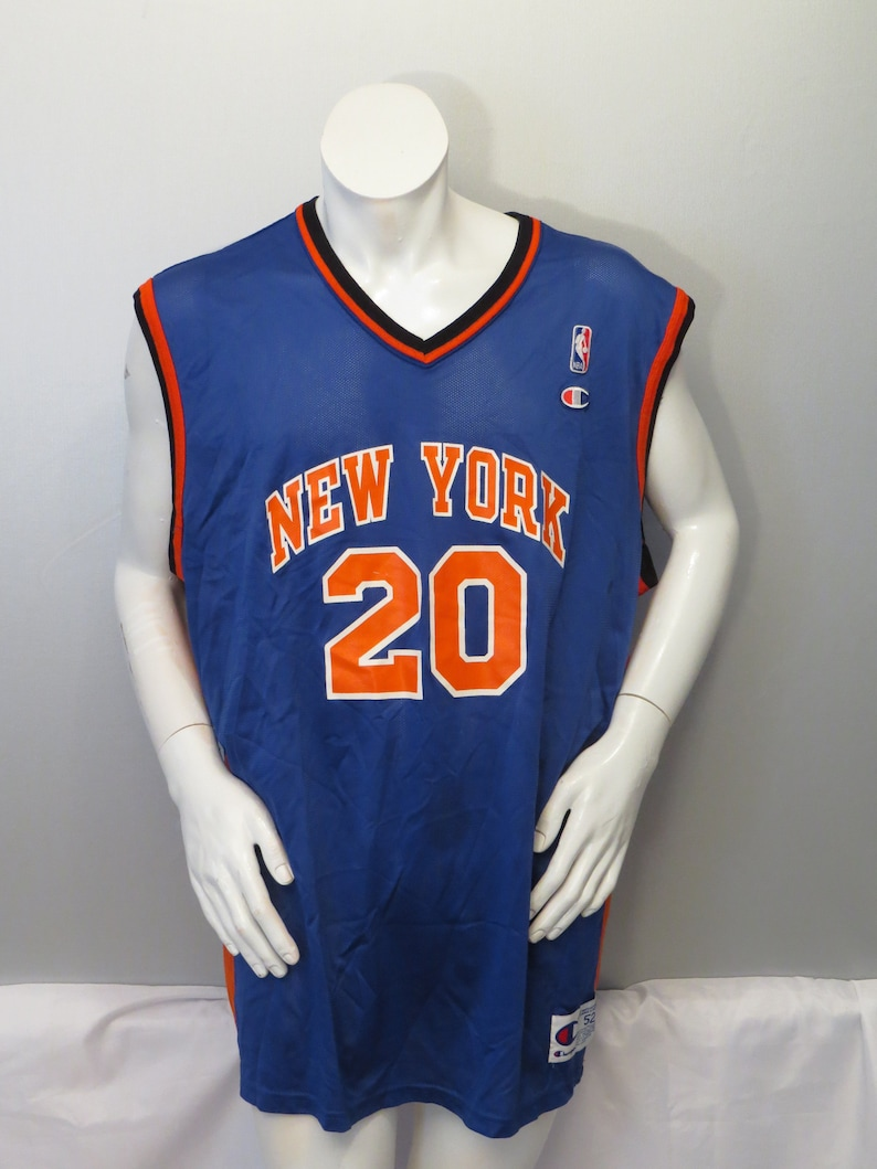 competitive price b7477 bc1ae Vintage New York Knicks Jersey by Champion - Allan Houston # 20 - Size 52  (XXL)