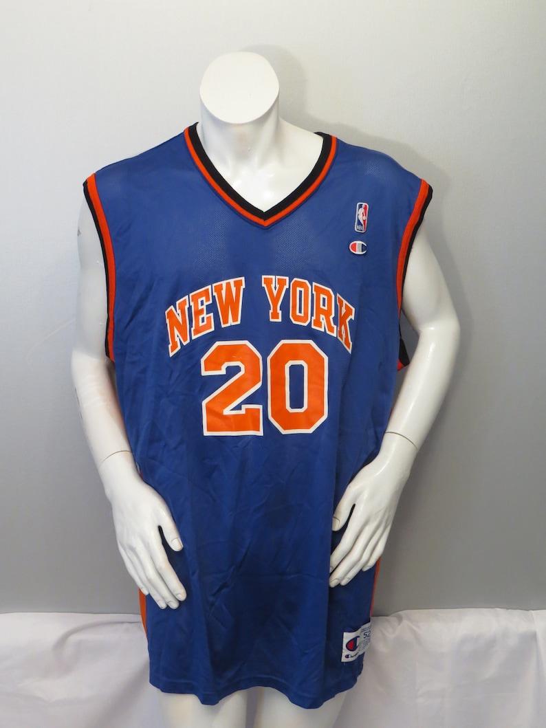 competitive price 21d22 2b819 Vintage New York Knicks Jersey by Champion - Allan Houston # 20 - Size 52  (XXL)