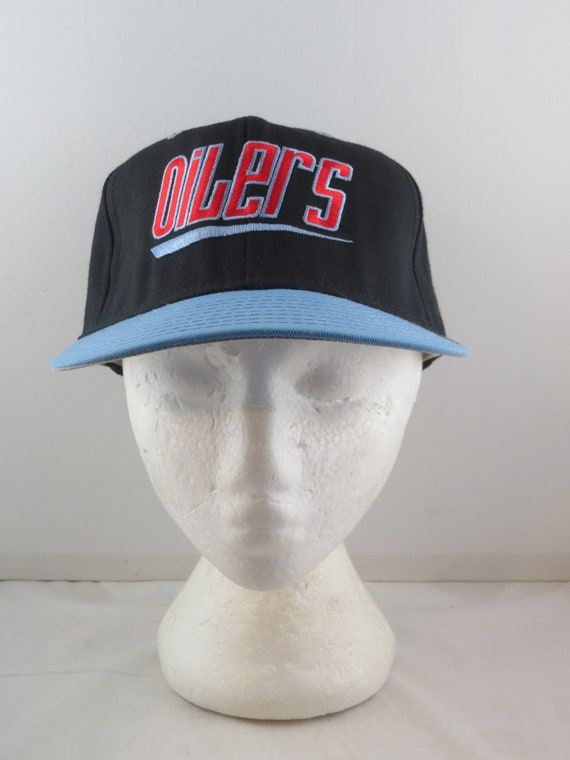 Houston Oilers Hat Vtg Zooming Script By Annco Adult Etsy