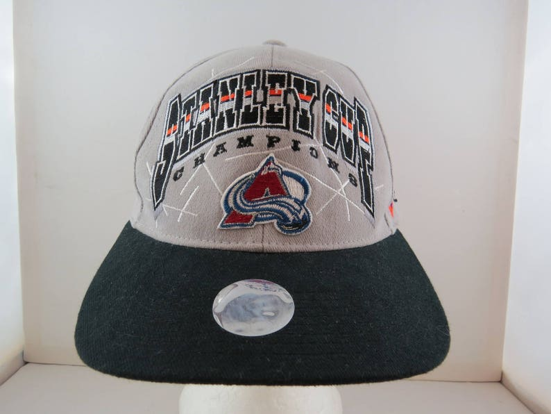 527f7439f5c Colorado Avalanche Hat VTG 1996 Stanley Cup Champions by