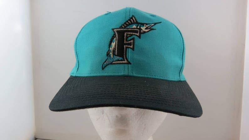 bfa3a6a2b14b7 Florida Marlins Hat VTG Original Logo Front By Logo 7 | Etsy