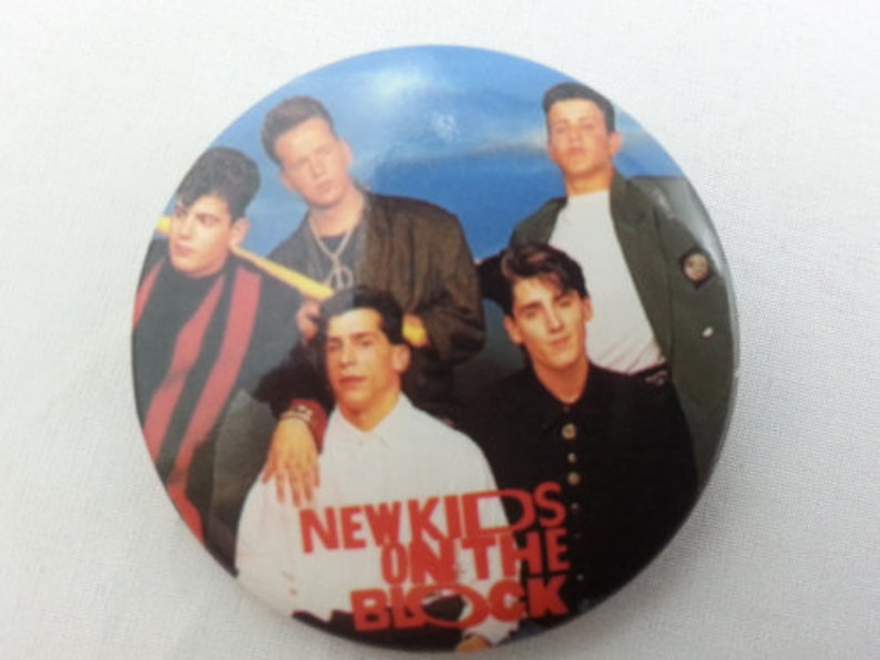Featuring the Entire Group Retro New Kids on the Block Button Prepped Out !