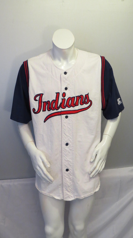 new arrival 278c8 827d9 Cleveland Indians Jersey (VTG) - David Justice / Starter Script - Men's 2XL