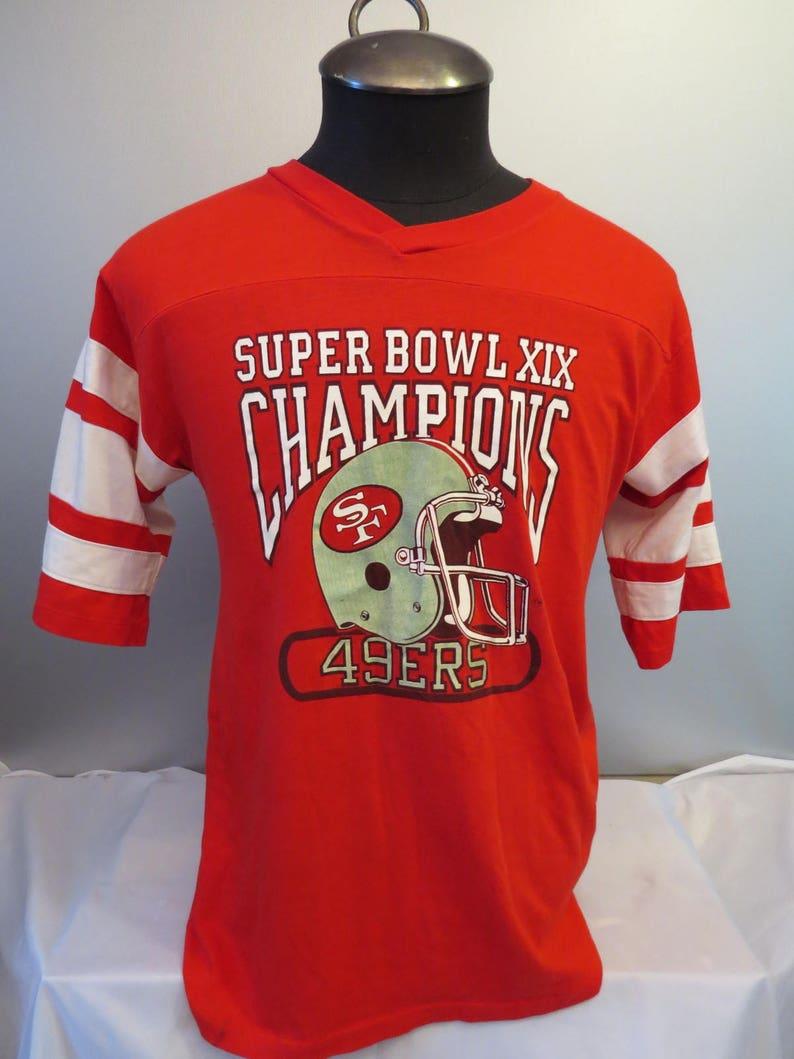 separation shoes f075e ae839 San Francisco 49ers Shirt (VTG) - Superbowl 19 Champions - Men's Large