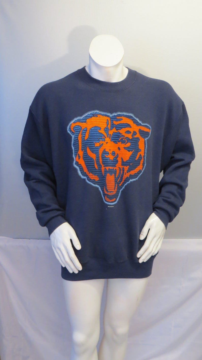 finest selection 50659 698a6 Chicago Bears Sweater (VTG) - Giant Bear Head Graphic - Pro Player - Men's  XL