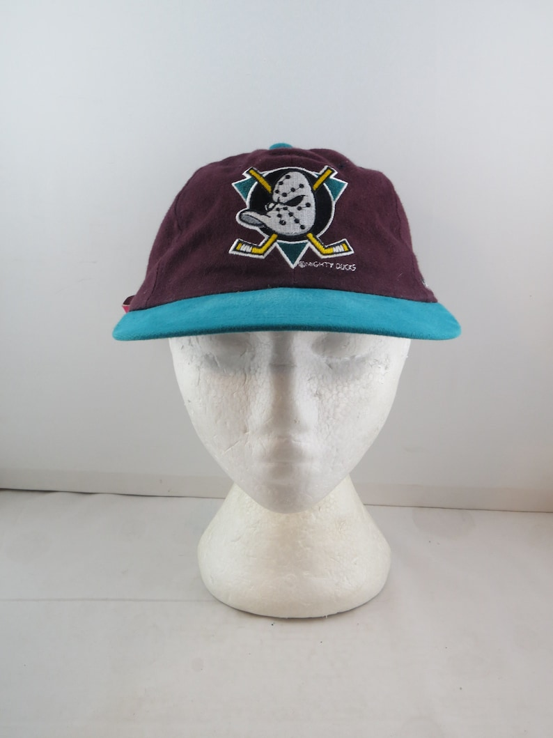 Vintage Anaheim Mighty Ducks Hat Classic Duck Mask Logo  ac756277e290