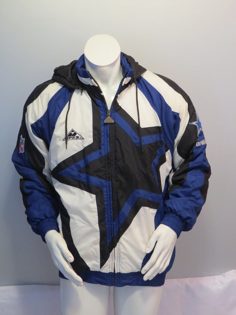 the best attitude f7b7c 41ca2 Dallas Cowboys Jacket (VTG) - Puffer Parka Big Star Logo Apex One - Men's  Medium