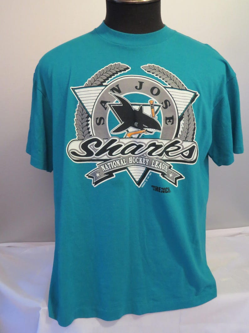 new concept a67d3 c371f San Jose Sharks Shirt (VTG) - By Trench USA - Men's Extra Large