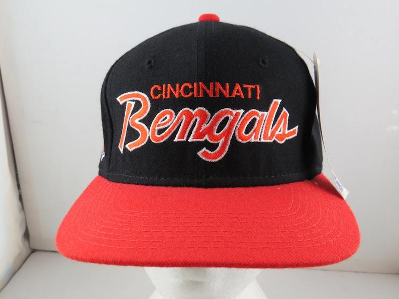 e08de3de79a884 Cincinnati Bengals Hat VTG Script by Sports Specialties | Etsy