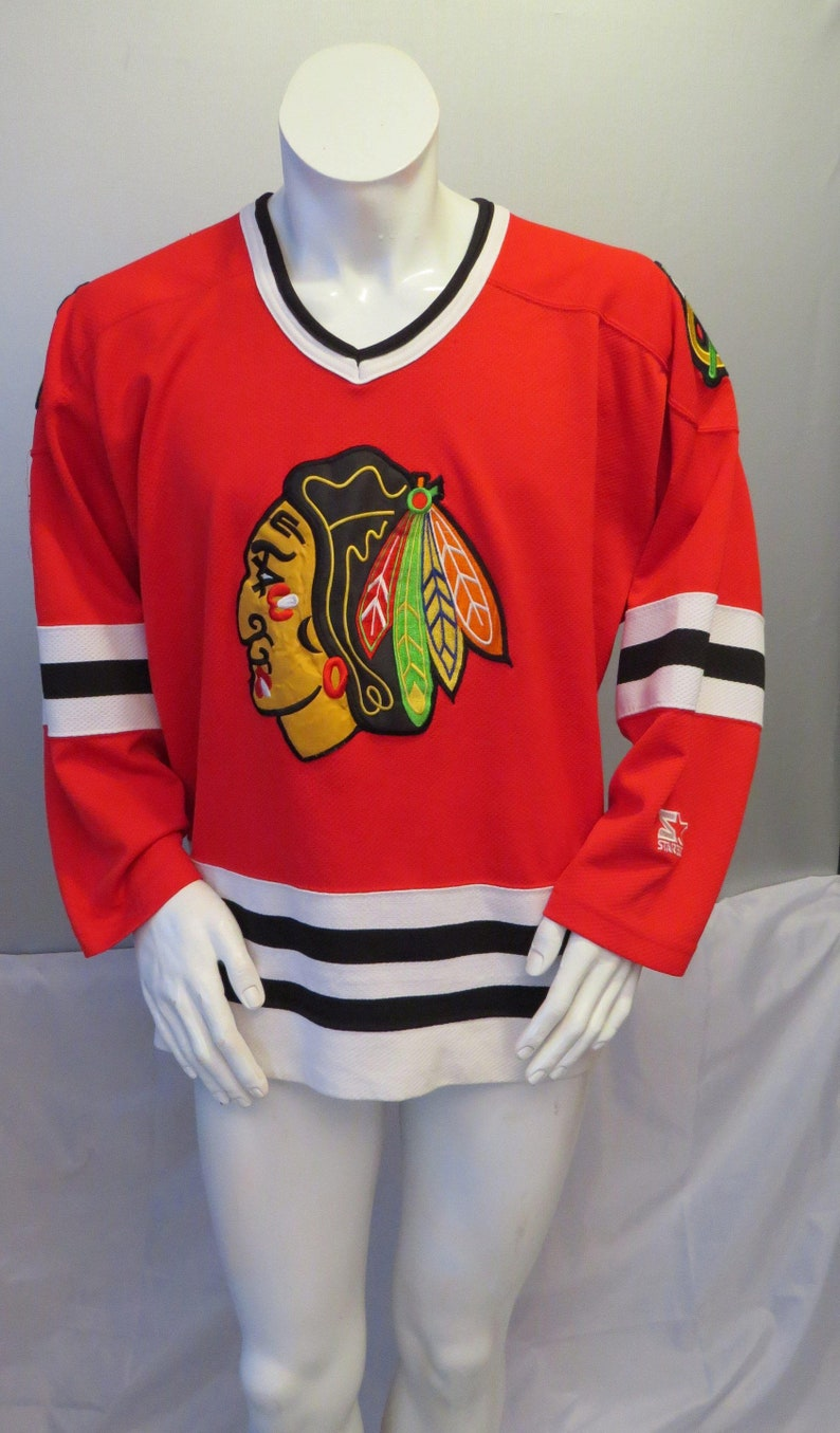 reputable site 8a926 0a389 Chicago Blackhawks Jersey (VTG) - Crested Away Red by Starter - Men's Large