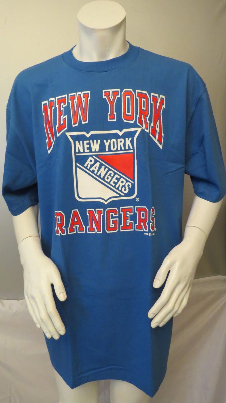 buy popular c9fb0 05dbb New York Rangers Shirt (VTG) - Team Logo with Arch Script - Men's XL - NWOT
