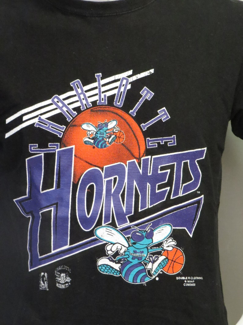 4a813176c7c Vintage Charlotte Hornets Shirt Zooming Graphics by Double R | Etsy