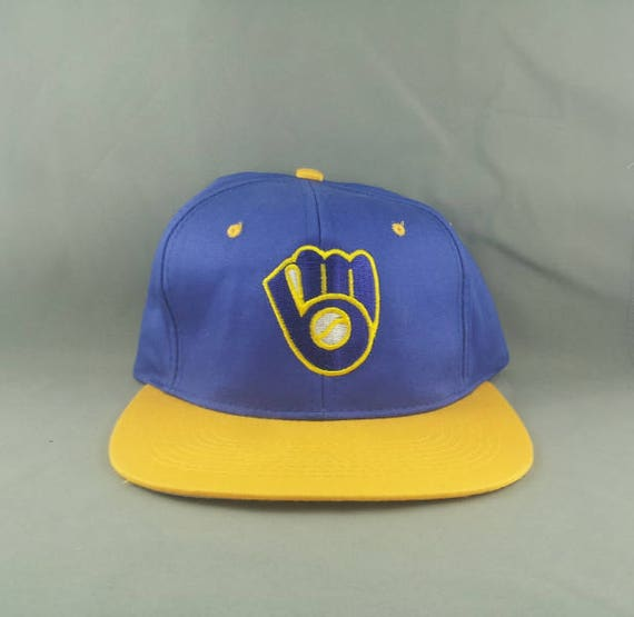 220e6cd8d575b ... good milwaukee brewers hat vtg by drew perason adult snapback etsy  9173d 7a866