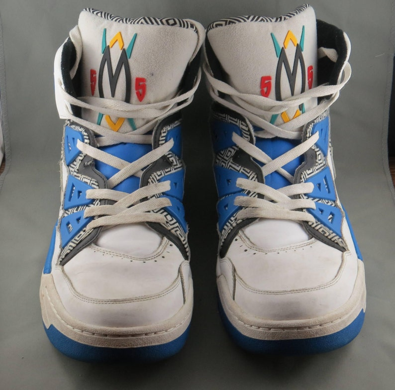 huge selection of 34093 5cdf5 Adidas Originals Dikembe Mutombo 55 1993 Blue White HI Top   Etsy