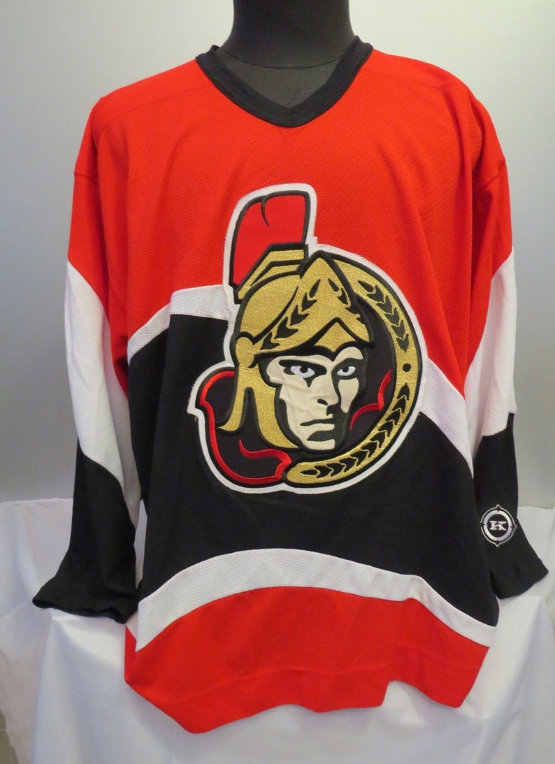 best loved dc8db 9bd65 Ottawa Senators Jersey -1990s Third Jersey by Koho - Men's Extra Large