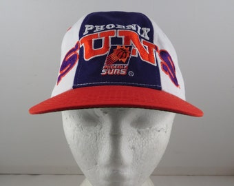 Phoenix Suns Hat - Multi Colour Panel with Arch Script By Starter - Adults Snapback