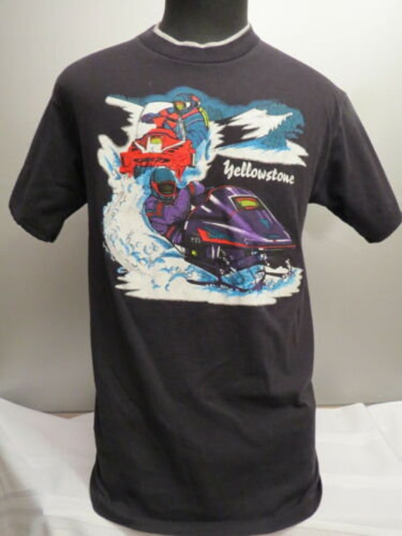 Vintage Snowmobile Shirt - Yellowstone National Pa