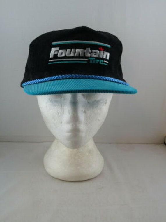 Vintage Corduroy Hat - Fountain Tire - Adult Snapb