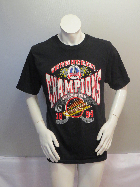 abf290f54ac2b Vintage Medium de Canucsk Vancouver Canucsk de chemise - Conférence de  l Ouest 1994 Champs. Accueil · Santé · Gilet ...