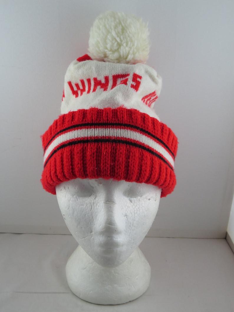 0da1e5090 Detroit Red Wings Beanie/ Toque VTG Team Colours with | Etsy