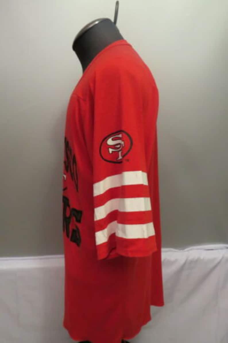 Canada VTG - By Raven/'s Knit - Mens LRG San Francisco 49ers 34 Sleeve Shirt